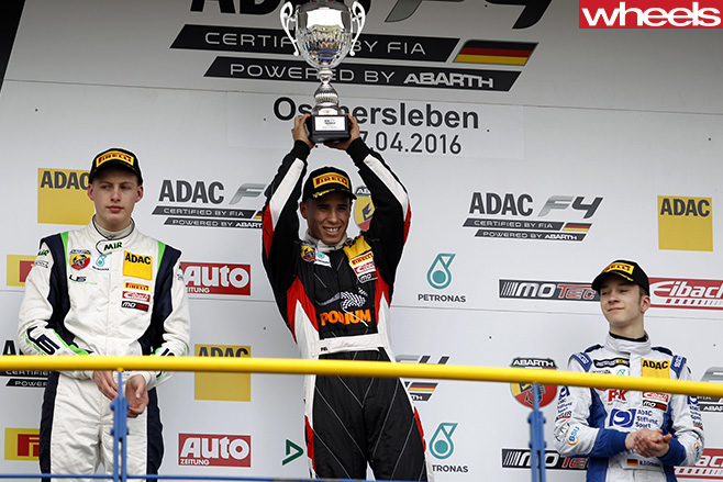 ADAC-Podium -winner -Mawson