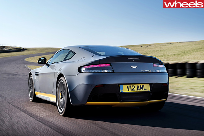 Aston -martin -vantage -gt 8-driving -rear