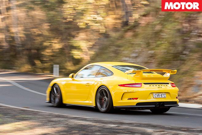Porsche 911 GT3 rear driving