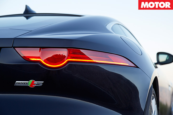Jaguar F-Type V6 S AWD rear badge