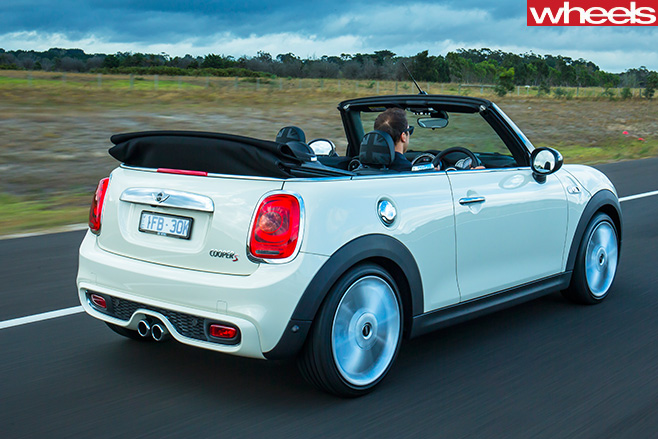 Mini -Cooper -S-convertible -driving -rear