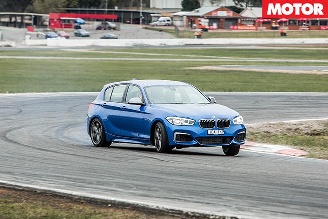 BMW M135i driving fast