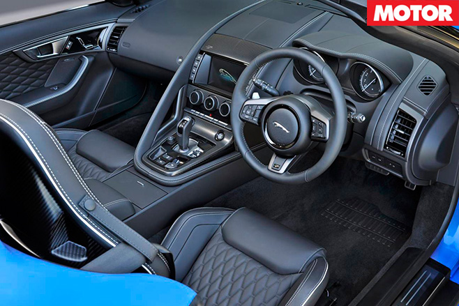 Jaguar F-Type Project 7 interior -2