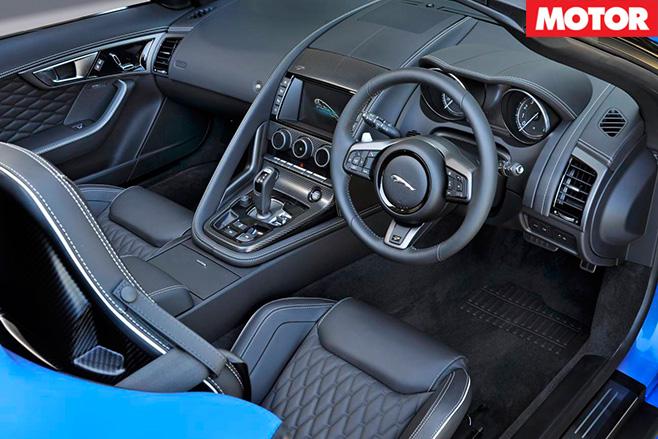 Jaguar F-Type Project 7 interior -2