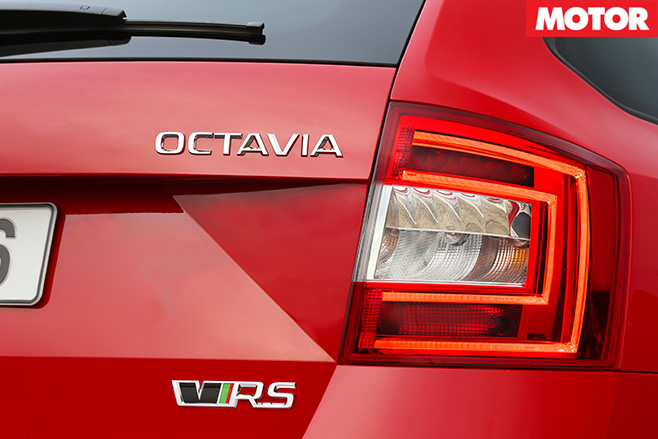 Skoda Octavia RS230 badge