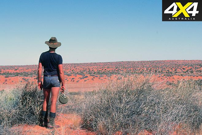 Denis admiring the desert