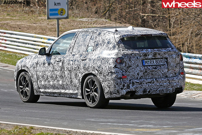 2018-BMW-X3-rear -side -spy -pics