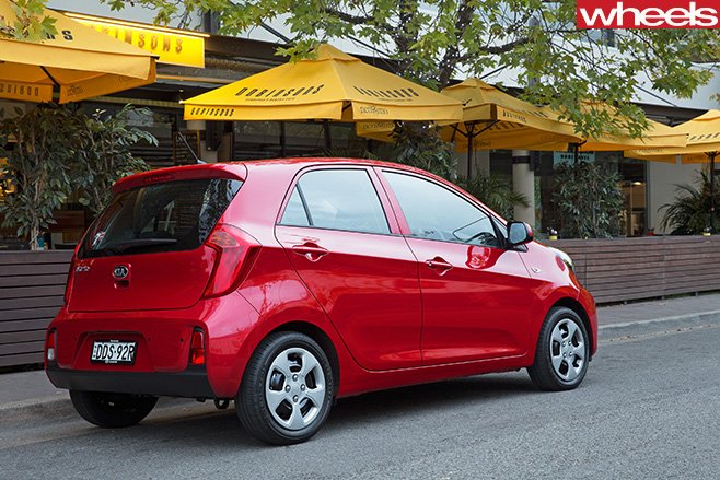 Kia -Picanto -red -rear