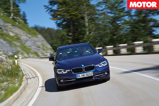 BMW 340i front driving