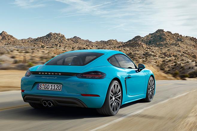 Porsche -Cayman -blue