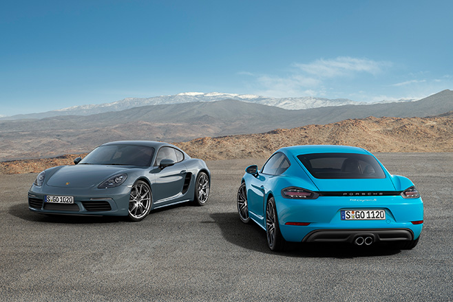 Porsche -Cayman -blue -rear