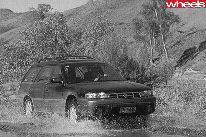 Subaru -Outback -driving -through -water