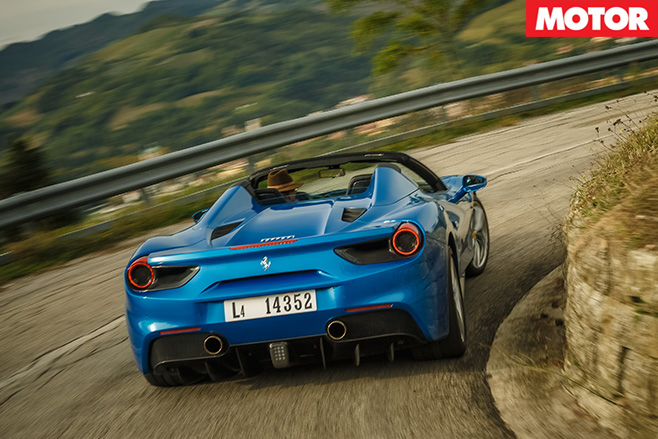 Ferrari 488 Spider review rear
