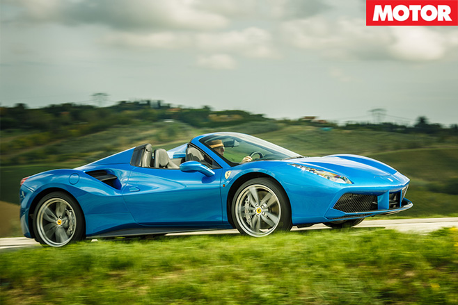 Ferrari 488 Spider review side