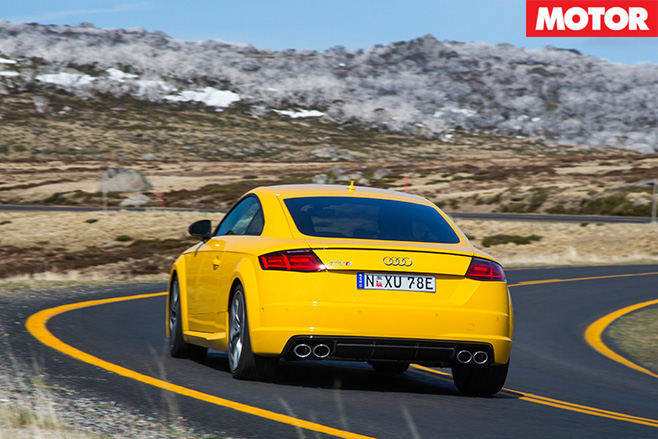 Audi tts coupe rear