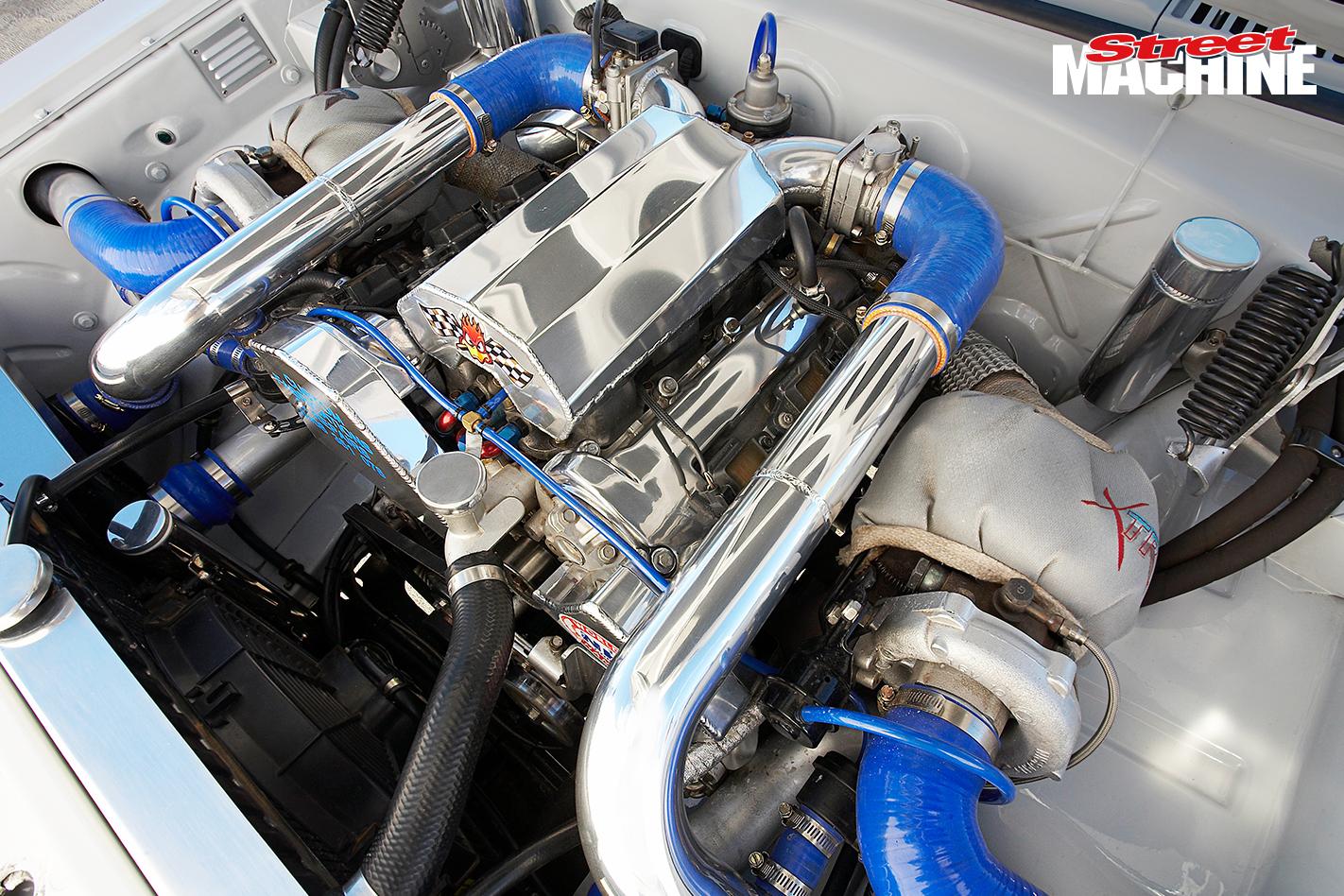 HR Holden Ute Twin Turbo Engine