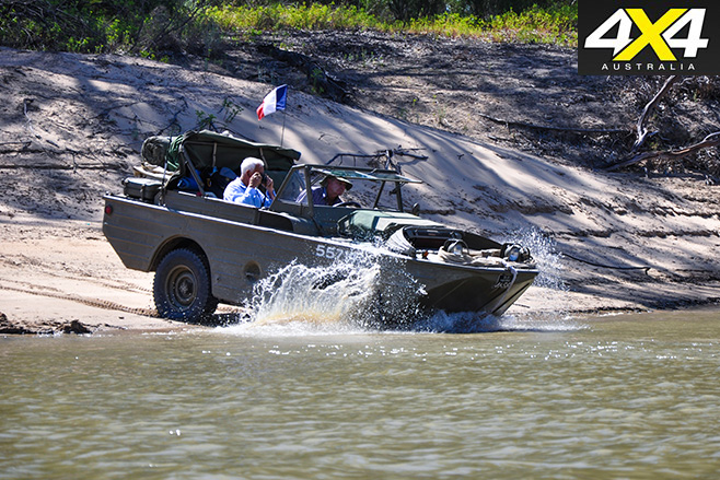 Ford GPA jeep entering the water