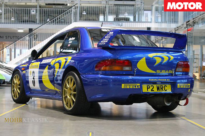 McRae's 1997 Subaru Impreza WRC rear