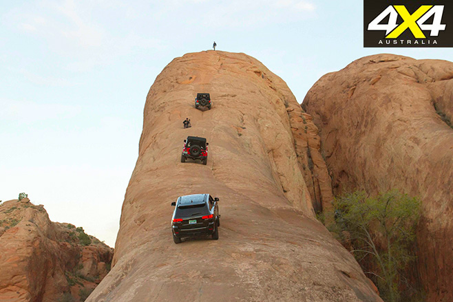 Anniversary Jeeps tackle the Lion's Back
