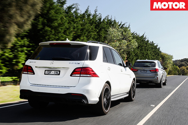 BMW X5 M VS Mercedes-AMG GLE 63 S rear