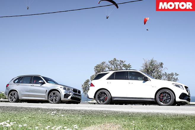 BMW X5 M VS Mercedes-AMG GLE63 S side