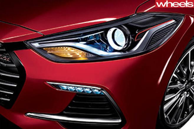 Hyundai -Elantra -Sport -headlight