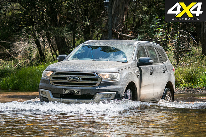 Ford everest water driving