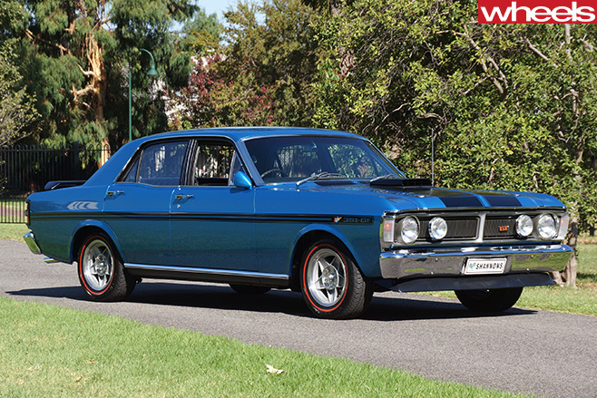 Ford -Falcon -GTHO-side -blue