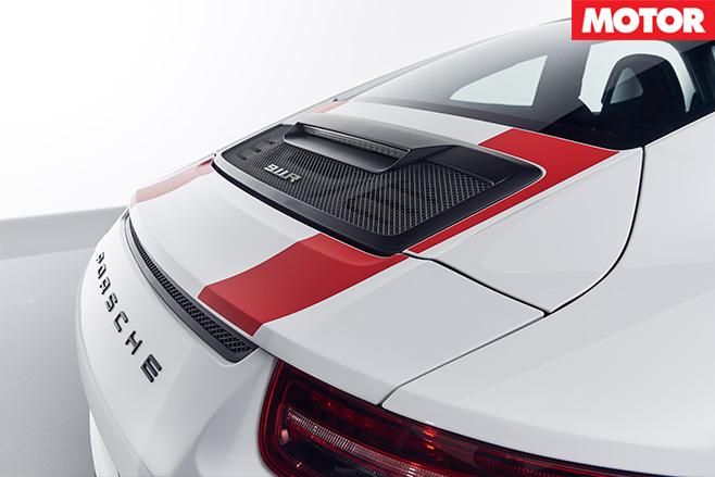 Porsche 911 R rear diffuser