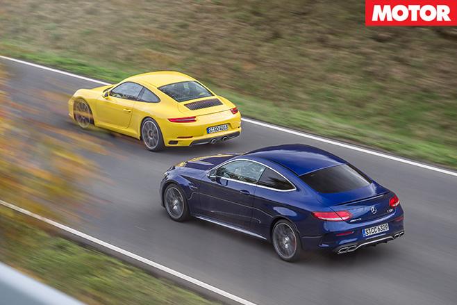 911 Carrera vs C63 S rear driving
