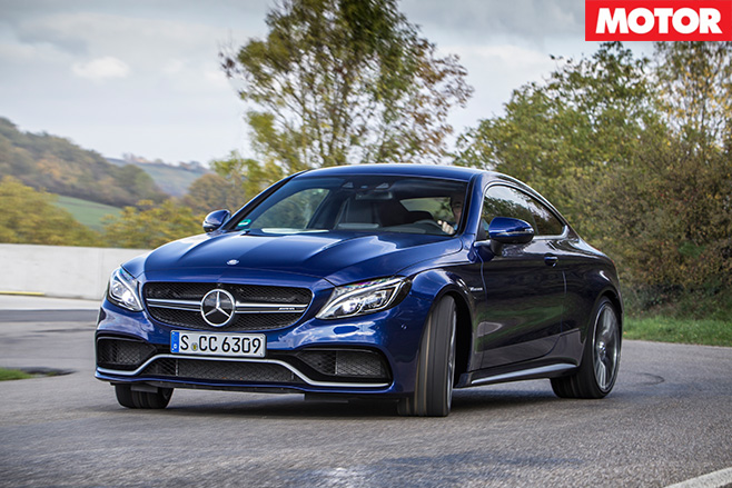 Mercedes amg c63 s coupe driving