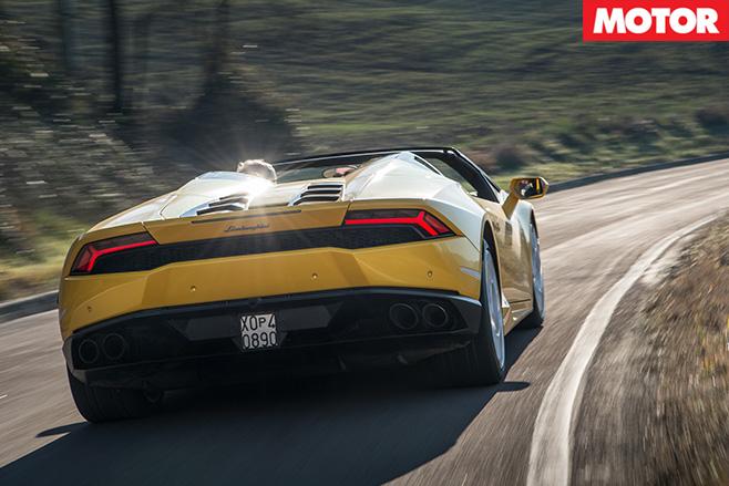 Lamborghini Huracan Spyder rear