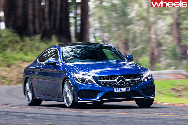 Mercedes -C-Class -Coupe -front -side -driving