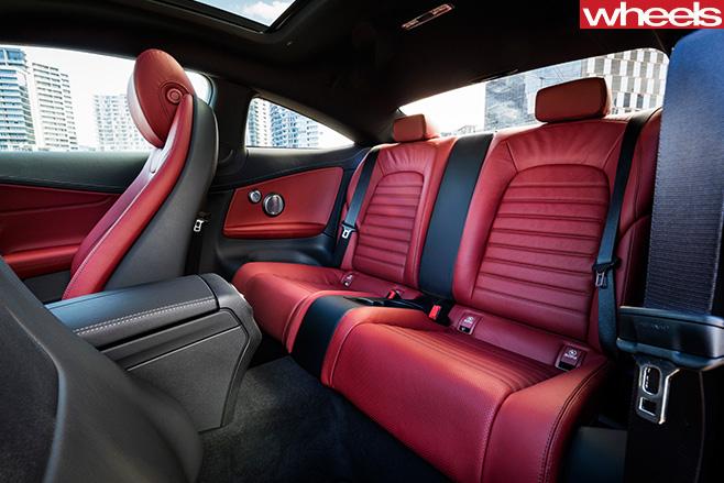 Mercedes -C-Class -Coupe -rear -seats