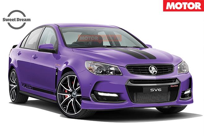 Holden Commodore SV6T purple