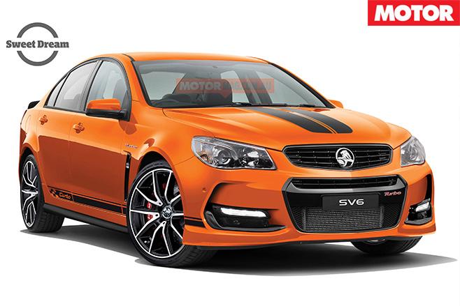 Holden Commodore SV6T orange