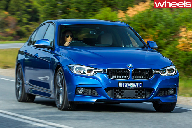 BMW-330e -driving -front