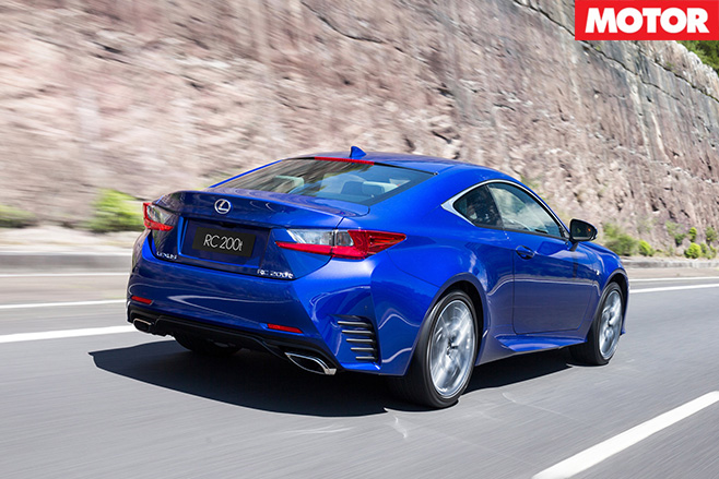 Lexus RC200t rear