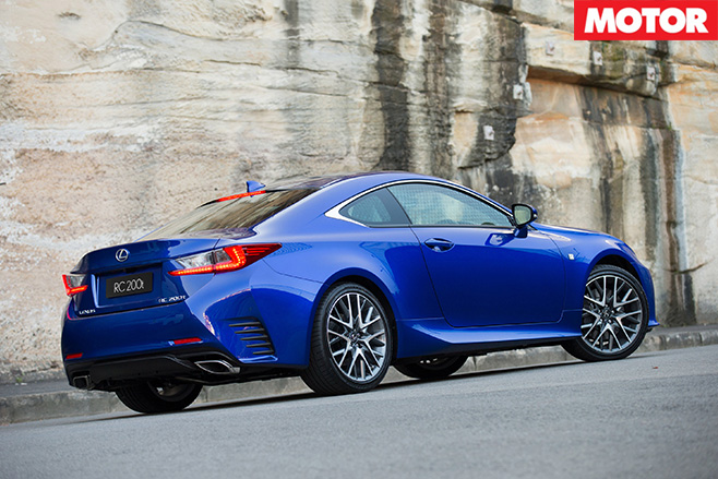 Lexus RC200t side