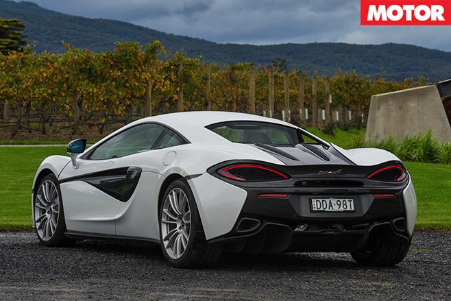 McLaren 540C white rear