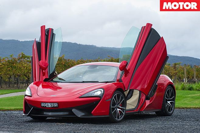 McLaren 540C red doors