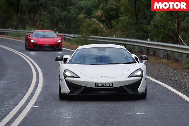 McLaren 540C driving front
