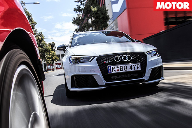 Audi rs3 driving front