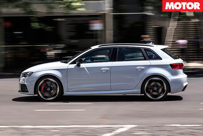 Audi RS3 driving side