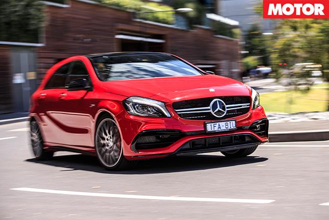 Mercedes-AMG A45 cornering