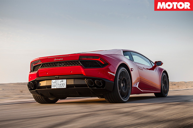 Lamborghini Huracán rear driving