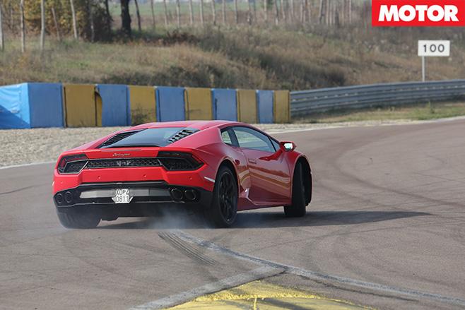 Lamborghini Huracán rear drift