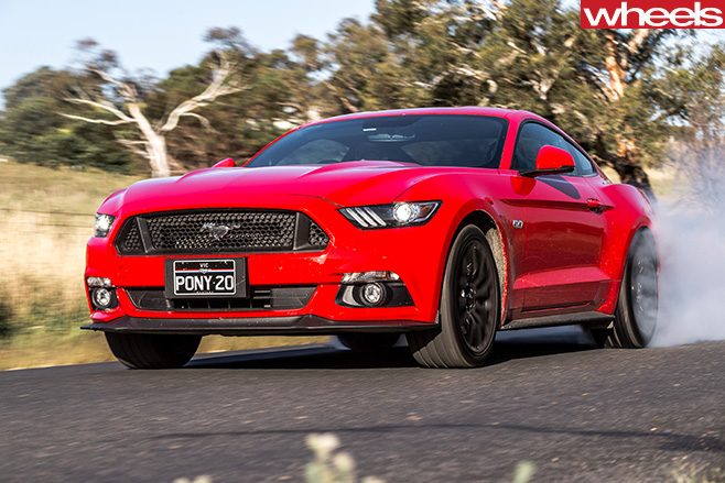 Red -Ford -Mustang -rear