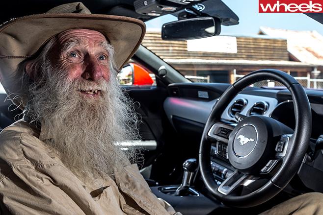 Ford -Mustang -man -inside