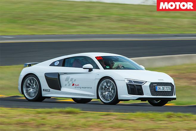 Audi R8 V10 Plus driving